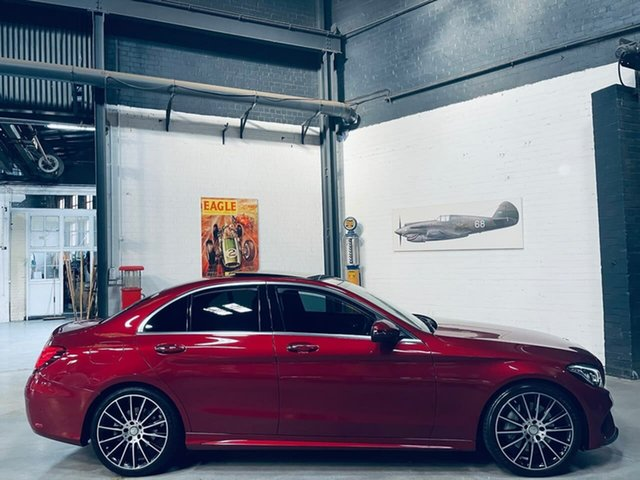 Used Mercedes-Benz C-Class W205 806+056MY C250 7G-Tronic + Port Melbourne, 2016 Mercedes-Benz C-Class W205 806+056MY C250 7G-Tronic + Red 7 Speed Sports Automatic Sedan