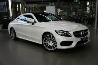 2016 Mercedes-Benz C-Class C205 807+057MY C300 9G-Tronic White 9 Speed Sports Automatic Coupe.