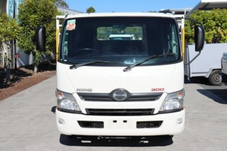 2018 Hino Dutro 300 White Automatic Tray Truck.