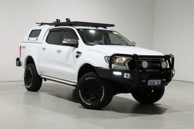 Used Ford Ranger PX MkII MY18 XLT 3.2 (4x4) Bentley, 2018 Ford Ranger PX MkII MY18 XLT 3.2 (4x4) White 6 Speed Automatic Double Cab Pick Up