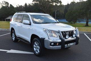 2012 Toyota Landcruiser Prado GRJ150R GXL White 5 Speed Sports Automatic Wagon.