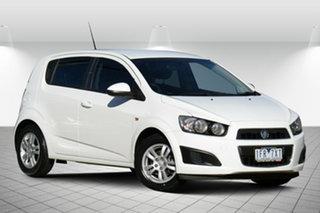 2013 Holden Barina TM MY13 CD Alaskan White 6 Speed Automatic Hatchback.