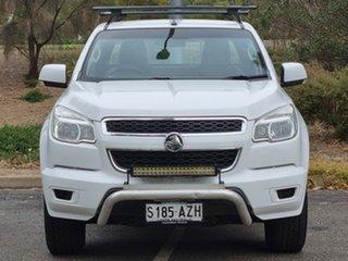 2013 Holden Colorado RG MY13 LX Crew Cab White 5 Speed Manual Utility.