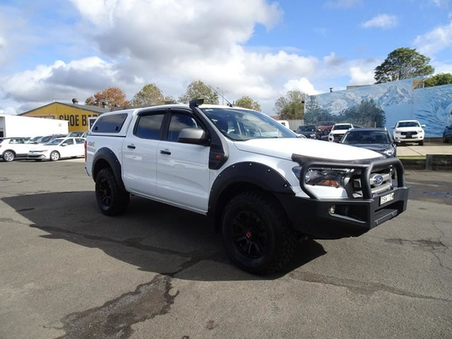 Used Ford Ranger PX MkII 2018.00MY XLS Double Cab Nowra, 2017 Ford Ranger PX MkII 2018.00MY XLS Double Cab White 6 Speed Automatic Utility
