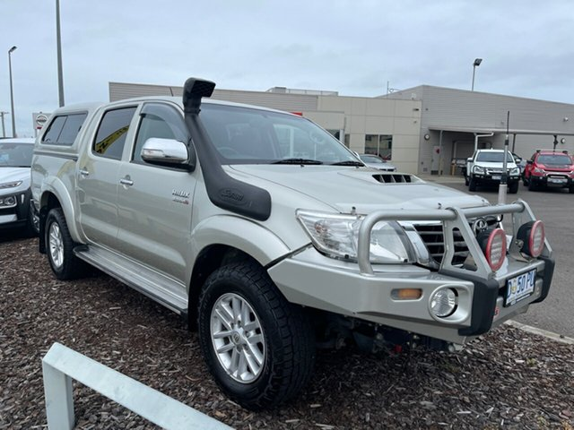 Used Toyota Hilux KUN26R MY12 SR5 Double Cab Devonport, 2013 Toyota Hilux KUN26R MY12 SR5 Double Cab Silver 4 Speed Automatic Utility