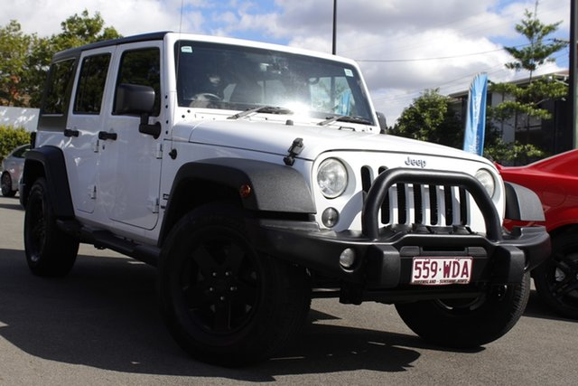 Used Jeep Wrangler JK MY2015 Unlimited Sport Mount Gravatt, 2015 Jeep Wrangler JK MY2015 Unlimited Sport White 5 Speed Automatic Softtop