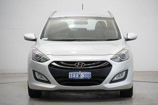 2013 Hyundai i30 GD Active Tourer Sleek Silver 6 Speed Sports Automatic Wagon.
