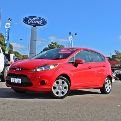 Used Ford Fiesta WT CL Midland, 2012 Ford Fiesta WT CL Red 5 Speed Manual Hatchback