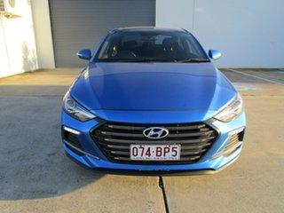 2018 Hyundai Elantra AD MY18 SR DCT Turbo Blue 7 Speed Sports Automatic Dual Clutch Sedan.