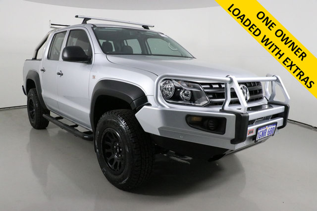 Used Volkswagen Amarok 2H MY18 TDI420 Core Edition (4x4) Bentley, 2018 Volkswagen Amarok 2H MY18 TDI420 Core Edition (4x4) Silver 8 Speed Automatic Dual Cab Utility