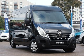 2018 Renault Master X62 MY17 LWB Mid Pearlescent Black 6 Speed Automated Manual Bus.