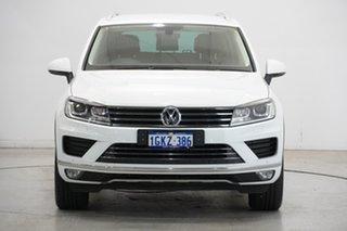 2017 Volkswagen Touareg 7P MY18 150TDI Tiptronic 4MOTION Element Pure White 8 Speed Sports Automatic.