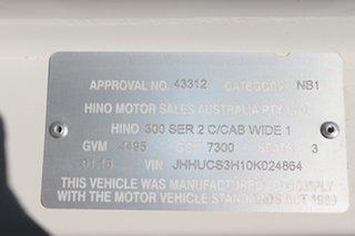 2018 Hino Dutro 300 White Automatic Tray Truck