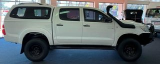 2009 Toyota Hilux KUN26R MY10 SR White 5 Speed Manual Utility.