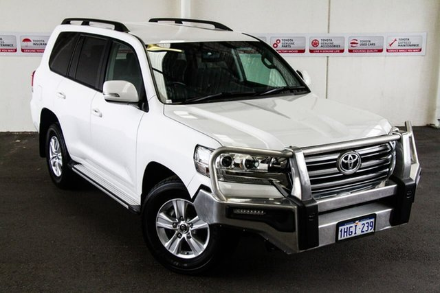Pre-Owned Toyota Landcruiser VDJ200R MY16 GXL (4x4) Myaree, 2016 Toyota Landcruiser VDJ200R MY16 GXL (4x4) Glacier White 6 Speed Automatic Wagon