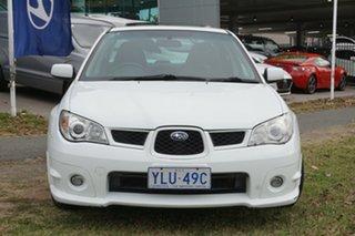 2007 Subaru Impreza S MY07 AWD White 4 Speed Automatic Sedan.
