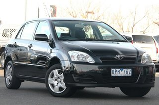 2006 Toyota Corolla ZZE122R 5Y Ascent Black 4 Speed Automatic Hatchback.