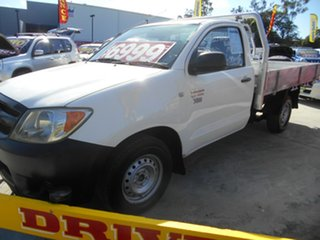 2005 Toyota Hilux TGN16R MY05 Workmate 4x2 White 5 Speed Manual Cab Chassis.