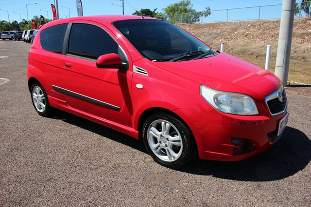 Pre-Owned Holden Barina TK MY10 Darwin, 2010 Holden Barina TK MY10 Red Mica 5 Speed Manual Hatchback