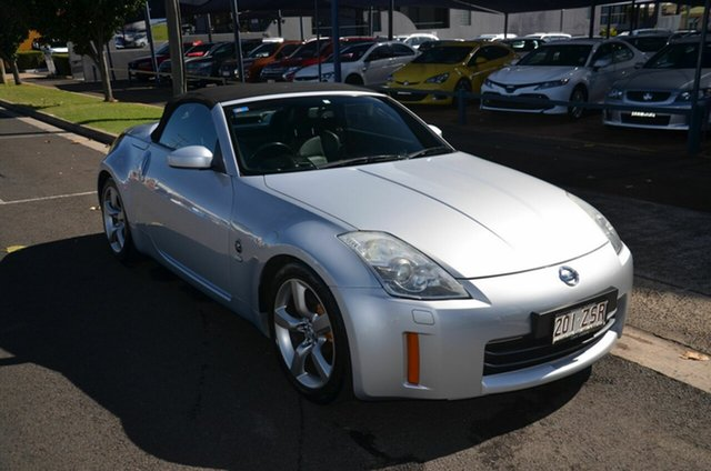 Used Nissan 350Z Z33 MY06 Upgrade Roadster Track Toowoomba, 2006 Nissan 350Z Z33 MY06 Upgrade Roadster Track Silver 6 Speed Manual Convertible