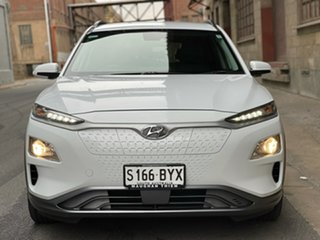 2019 Hyundai Kona OS.3 MY19 electric Elite Chalk White 1 Speed Reduction Gear Wagon.