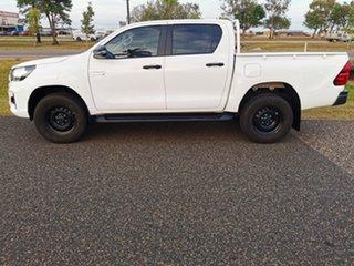 2018 Toyota Hilux GUN136R SR Double Cab 4x2 Hi-Rider White 6 Speed Manual Utility.