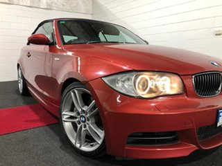 2008 BMW 1 Series E88 135i Steptronic Burgundy 6 Speed Sports Automatic Convertible.