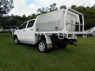 2011 Toyota Hilux KUN26R MY12 SR (4x4) White 5 Speed Manual Dual Cab Pick-up.