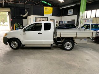 2005 Toyota Hilux GGN15R SR White 5 Speed Automatic X Cab Pickup
