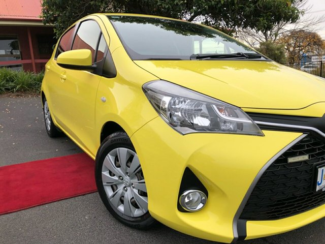 Used Toyota Yaris NCP131R SX Glenorchy, 2016 Toyota Yaris NCP131R SX Yellow 4 Speed Automatic Hatchback