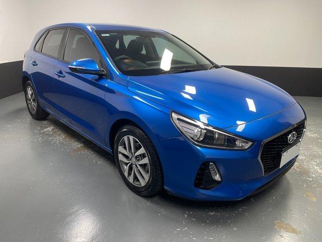 Used Hyundai i30 PD MY18 Active Raymond Terrace, 2017 Hyundai i30 PD MY18 Active Marina Blue 6 Speed Sports Automatic Hatchback