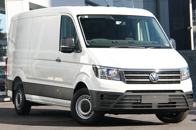 New Volkswagen Crafter SY1 MY21 35 MWB FWD TDI340 Port Melbourne, 2021 Volkswagen Crafter SY1 MY21 35 MWB FWD TDI340 White 8 Speed Automatic Van