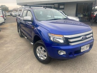 2014 Ford Ranger PX XLS Double Cab Blue 6 Speed Manual Utility.