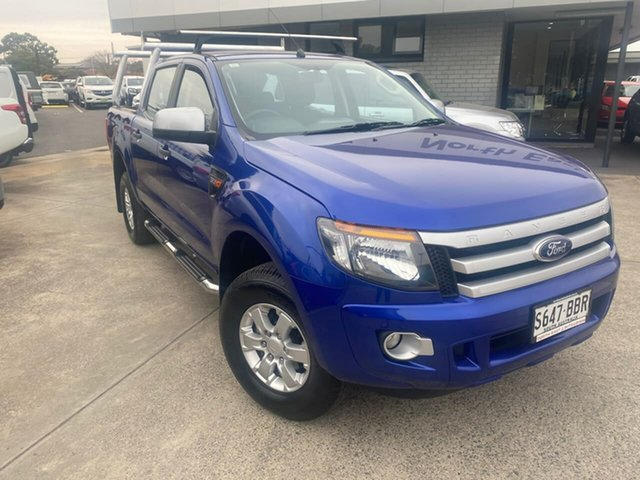 Used Ford Ranger PX XLS Double Cab Hillcrest, 2014 Ford Ranger PX XLS Double Cab Blue 6 Speed Manual Utility