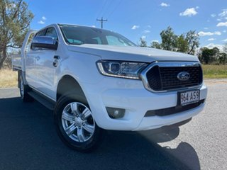 2020 Ford Ranger PX MkIII 2021.25MY XLT Double Cab Arctic White 6 Speed Sports Automatic.