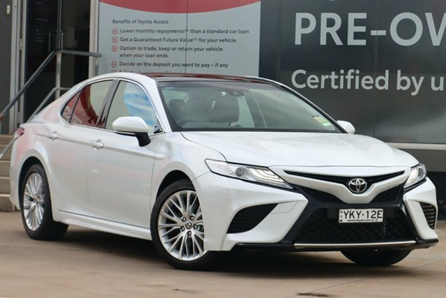 Pre-Owned Toyota Camry ASV70R SL Guildford, 2020 Toyota Camry ASV70R SL Frosted White 6 Speed Automatic Sedan