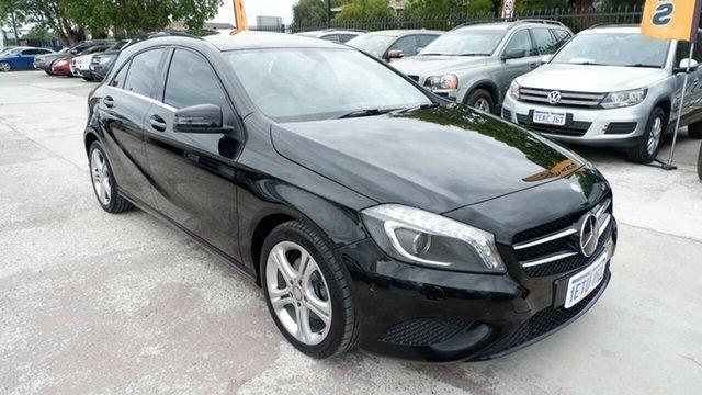 Used Mercedes-Benz A-Class W176 A180 D-CT St James, 2014 Mercedes-Benz A-Class W176 A180 D-CT Black 7 Speed Sports Automatic Dual Clutch Hatchback