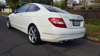 2011 Mercedes-Benz C250 W204 MY11 BE White 7 Speed Automatic G-Tronic Coupe