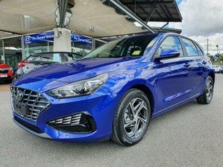 2021 Hyundai i30 PD.V4 MY21 Intense Blue 6 Speed Sports Automatic Hatchback.