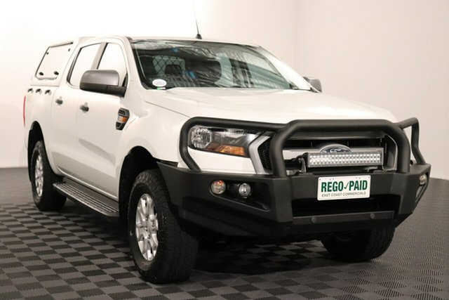 Used Ford Ranger PX MkII XLS Double Cab Acacia Ridge, 2016 Ford Ranger PX MkII XLS Double Cab White 6 speed Automatic Utility