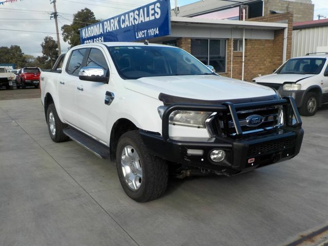 Used Ford Ranger PX MkII MY18 XLT 3.2 (4x4) Newtown, 2017 Ford Ranger PX MkII MY18 XLT 3.2 (4x4) White 6 Speed Automatic Double Cab Pick Up