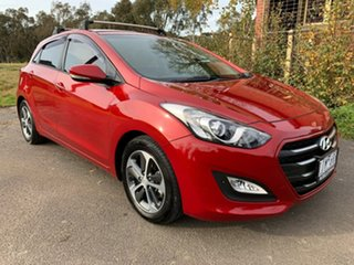 2016 Hyundai i30 GD4 Series II Active X Red Sports Automatic Hatchback.