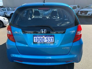 2011 Honda Jazz GE MY11 GLi Blue 5 Speed Automatic Hatchback.