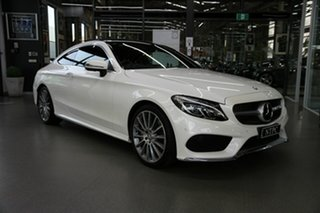 2016 Mercedes-Benz C-Class C205 807+057MY C300 9G-Tronic White 9 Speed Sports Automatic Coupe