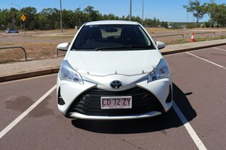 2019 Toyota Yaris NCP130R Ascent Crystal Pearl 4 Speed Automatic Hatchback