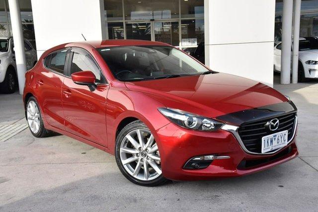 Used Mazda 3 BN5438 SP25 SKYACTIV-Drive Oakleigh, 2017 Mazda 3 BN5438 SP25 SKYACTIV-Drive Red 6 Speed Sports Automatic Hatchback
