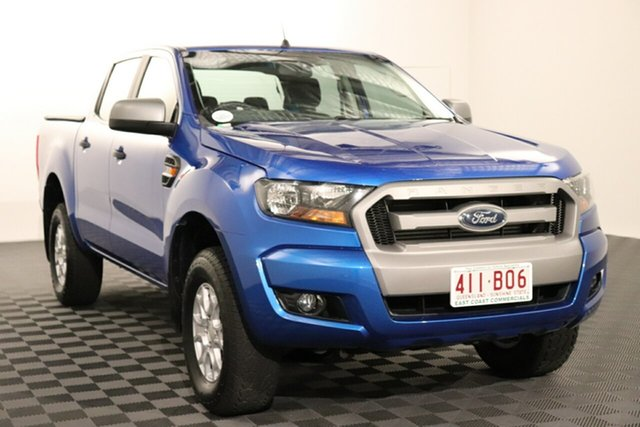 Used Ford Ranger PX MkII XLS Double Cab Acacia Ridge, 2017 Ford Ranger PX MkII XLS Double Cab Blue 6 speed Automatic Utility