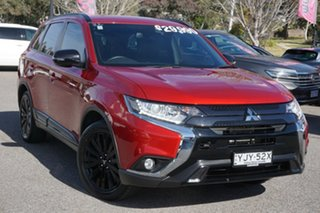 2019 Mitsubishi Outlander ZL MY20 Black Edition 2WD Red 6 Speed Constant Variable Wagon.