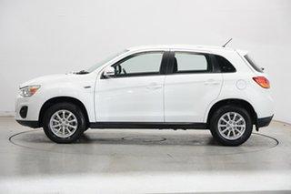 2013 Mitsubishi ASX XB MY13 2WD White 6 Speed Constant Variable Wagon.