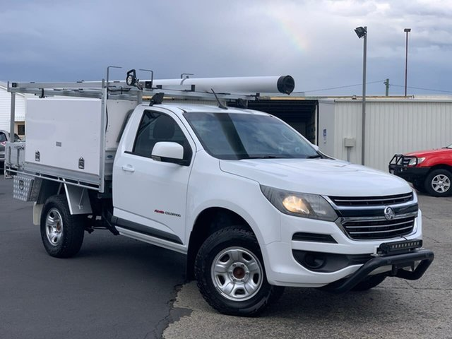 Used Holden Colorado RG MY16 LS Moonah, 2016 Holden Colorado RG MY16 LS White 6 Speed Sports Automatic Cab Chassis